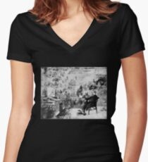 Souvenir of Dickens Women's Fitted V-Neck T-Shirt