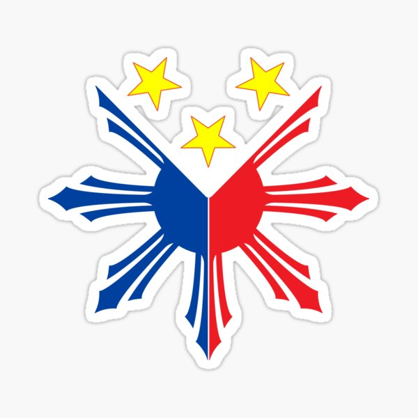 Philippines sun and stars Sticker