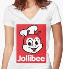 Jollibee Women's Fitted V-Neck T-Shirt