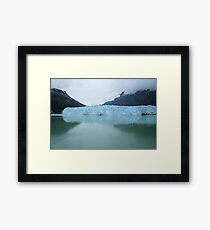 Wanderlust Alaska Blue Glacier Framed Print