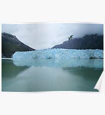 Wanderlust Alaska Blue Glacier Poster