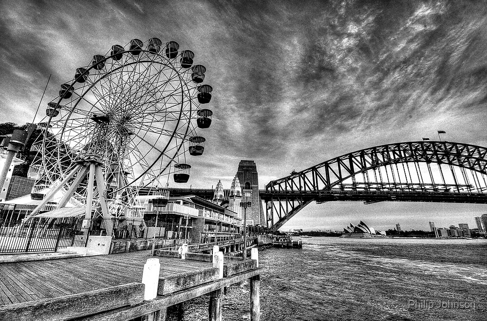 Sydney Harbour - A Study In Black and White - The HDR Experience by Philip Johnson