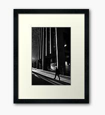 City Rush Framed Print