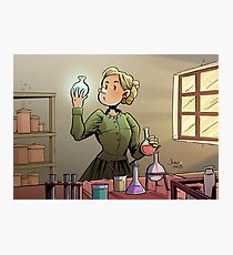 Marie Curie Comic Cover Photographic Print