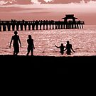 The Naples Florida Pier Valentines Day by Jason Pepe