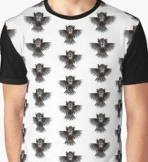 Patterns of Strange Hummingbird A1. Black on white background. Graphic T-Shirt