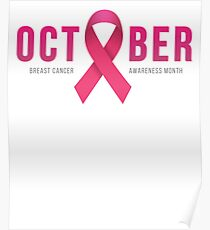 Breast Cancer Awareness October Posters Redbubble
