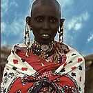 Young Maasai Woman - Kenya, Africa by Bev Pascoe