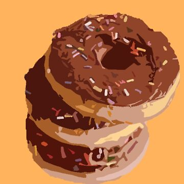 Morning Donuts - Chocolate Frosted Breakfast Doughnuts by oggi0