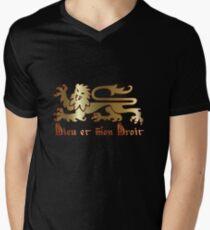 Dieu et mon droit Mens V-Neck T-Shirt