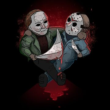 Jason Voorhees & Micheal Myers Bestie for Halloween by nathdesign
