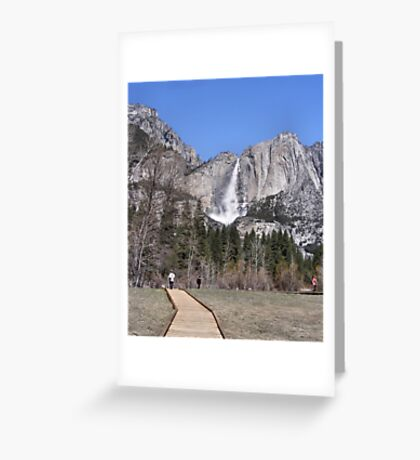 A Walk To The Falls Greeting Card