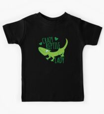 Crazy Lizard reptile Lady 2 Kids Clothes