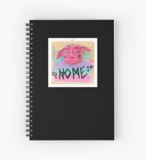 HOME greeting monster face greeting sculpture  Spiral Notebook
