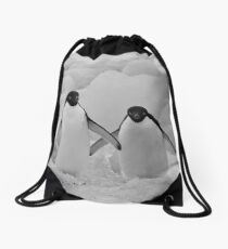 Adelie Penguins, Devil's Island, Antarctic Peninsula Drawstring Bag