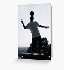Street Performer Greeting Card