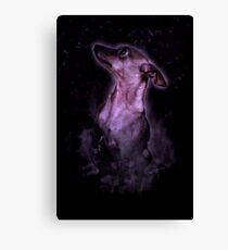 Smokey Dog Canvas Print