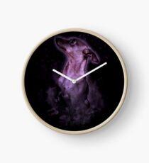 Smokey Dog Clock