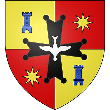 French France Coat of Arms 13209 Blason ville fr Lacoste Vaucluse by wetdryvac