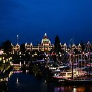 Victoria at night - christmas lights by Perggals© - Stacey Turner