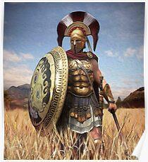 Spartanischer Hoplit Poster