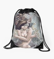 Angels Bleed Gold Drawstring Bag