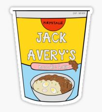 Jack Avery's Instant Noodle Hair Sticker