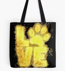 Paw print paws glowing Art Tote Bag