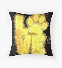 Paw print paws glowing Art Throw Pillow