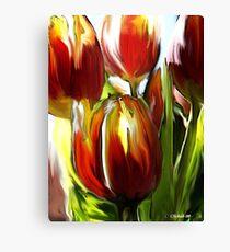 Tulip Brush Canvas Print