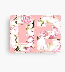 2nd b-day gift roses number 02 2 birthday pink Canvas Print