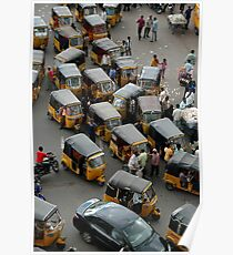 YELLOW AUTOCABS OF HYDERABAD Poster