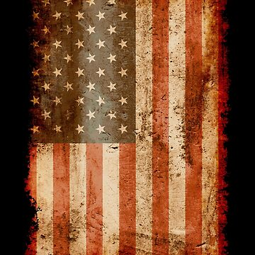 Distressed Old Glory, USA, American Flag by gorillamerch