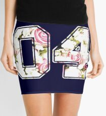 4th b-day gift roses number 04 4 birthday pink Mini Skirt