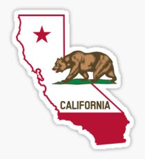 Pegatina brillante Estado de la República de California