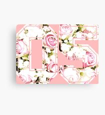 5th b-day gift roses number 05 5 birthday pink Canvas Print