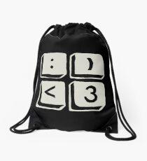 happy-heart Drawstring Bag