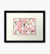 8th b-day gift roses number 08 8 birthday pink Framed Print