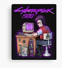 Real Cyber - Punk in 1988 Canvas Print