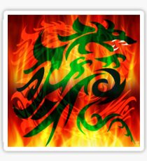 DRAGON IN FLAME Sticker