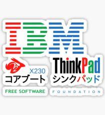 IBM Lenovo ThinkPad X230 Coreboot Free Software Foundation Sticker