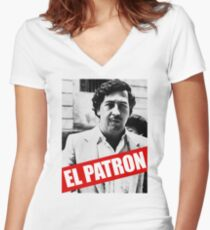 El patron Women's Fitted V-Neck T-Shirt