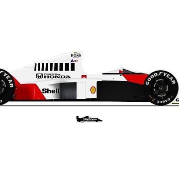 Formula 1 - Ayrton Senna - McLaren MP4/5 by JageOwen