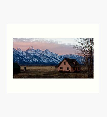 Peach House, Mormon Row, Tetons Art Print