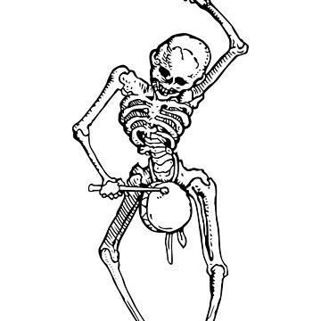 Skeleton drummer by Gwendal