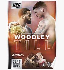 UFC 228: Woodley vs Till Official Event Poster (HQ) Poster