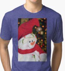 Frosty Christmas 1 Tri-blend T-Shirt
