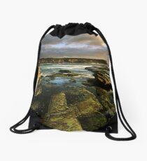 """Cliff to Cliff"" ∞ Little Bay, NSW - Australia Drawstring Bag"