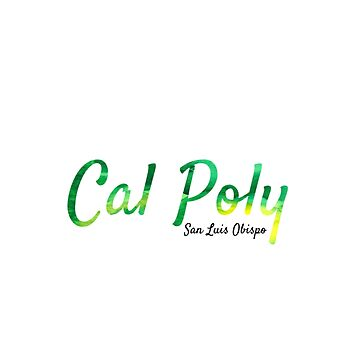 Cal Poly SLO Green and Gold watercolor  by emmanne03