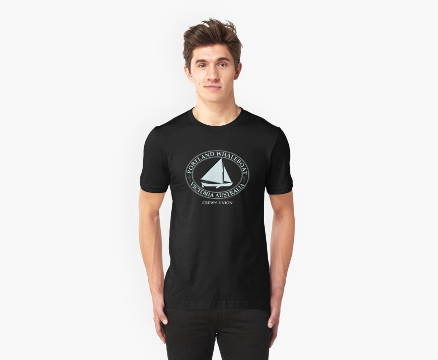 Portland Whaleboat Crew black by Grant Forbes